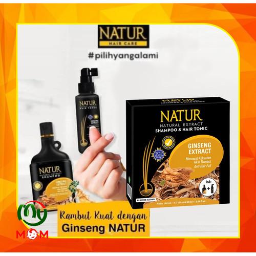 Foto Produk Natur Shampoo & Natur Hair Tonic Ginseng / Paket 2 in 1 / MY MOM dari mymom