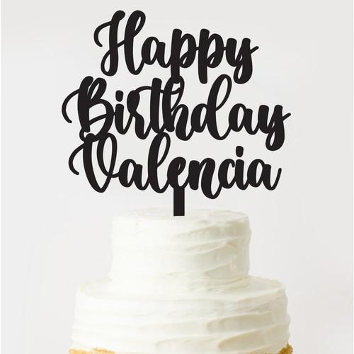 Jual Custom Cake Topper Birthday Cake Topper Ulang Tahun Acrylic Jakarta Timur Oh My Sign Tokopedia