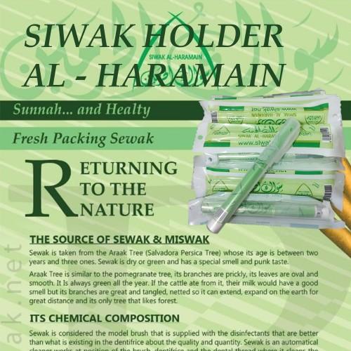 Foto Produk Siwak Al Haramain with Holder Import from King Saudi Arabia dari British Propolis Store