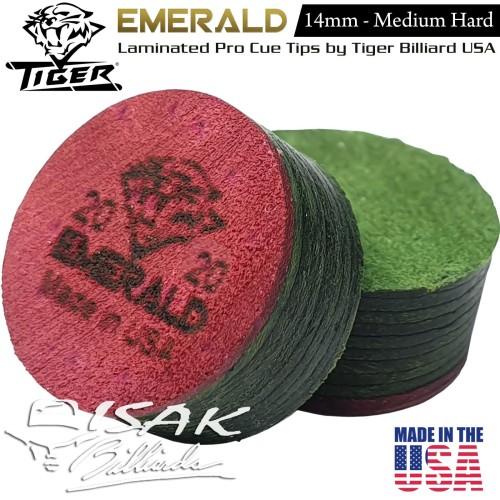 Foto Produk Emerald Cue Tip - Laminated Layer Tips by Tiger USA Billiard Biliar dari ISAK Billiard Sport Co.