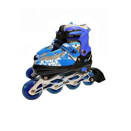 Foto Produk Sepatu Roda Anak Power Inline Skate POWER SUPERB Model BAJAJ - Biru, S dari SmithToko