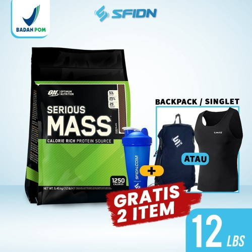 Foto Produk ON Optimum Nutrition Serious Mass Weight Gainer 12 LBS / 12 lbs dari SuplemenfitnessID