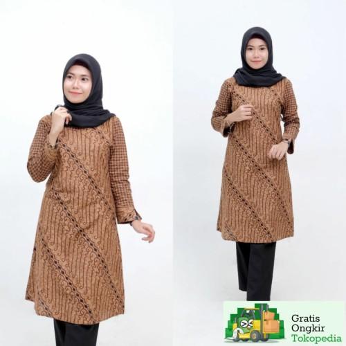 Foto Produk Baju Tunik Batik Wanita Terlaris - M dari Meyda_Batik