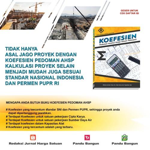 Foto Produk Buku Koefesien Pedoman Analisa Harga Satuan Pekerjaan dari PANDU BANGUN