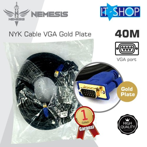 Foto Produk NYK Cable VGA Gold Plate 40M dari IT-SHOP-ONLINE