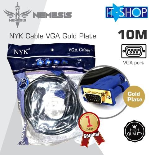 Foto Produk NYK Cable VGA Gold Plate 10M dari IT-SHOP-ONLINE