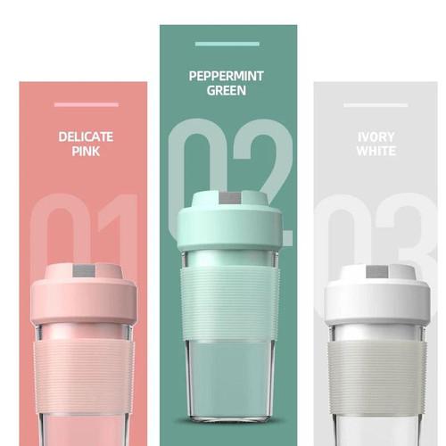 Foto Produk Blender portable / mini portable juicer 300 ml / not vitamer - PAPERMINT dari kairos-olshop