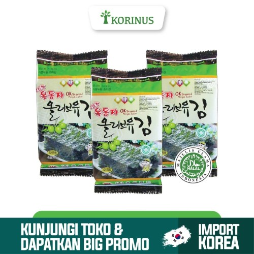 Foto Produk Korinus Ock Dong Ja Sheets / Ock Dong Ja Sheets Halal / Rumput Laut dari KORINUS