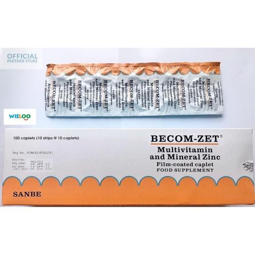 Foto Produk BecomZet Multivitamin Vitamin C 750mg and Zinc (Strip isi 10 tablet) dari wieloo