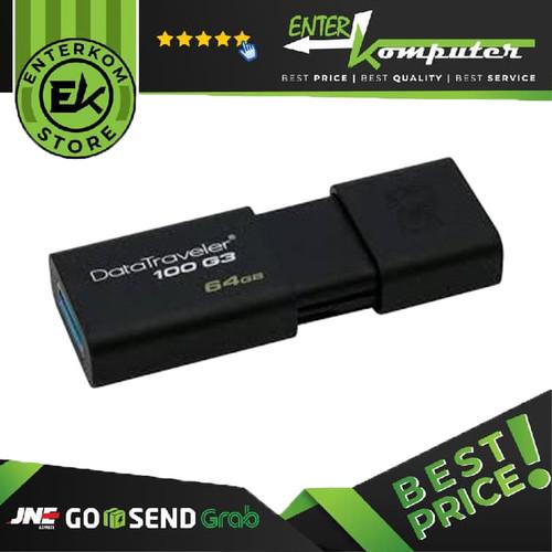 Foto Produk Kingston Data Traveler 100 G3 USB 3.0 64GB - DT100G3 dari Enter Komputer Official
