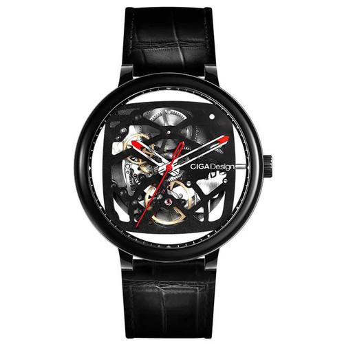 Foto Produk Xiaomi CIGA T Series Jam Tangan Mechanical Watch Skeleton Model Bulat - Hitam dari kura kura disko