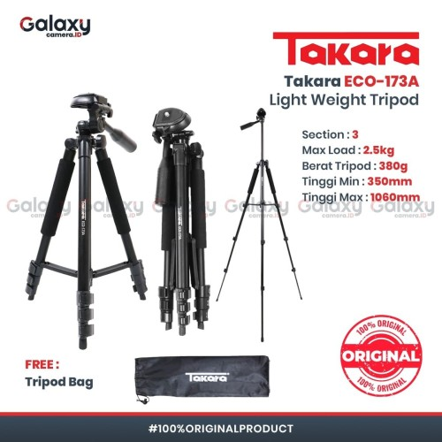Foto Produk Tripod Takara Light Weight ECO-173A dari Galaxy Camera