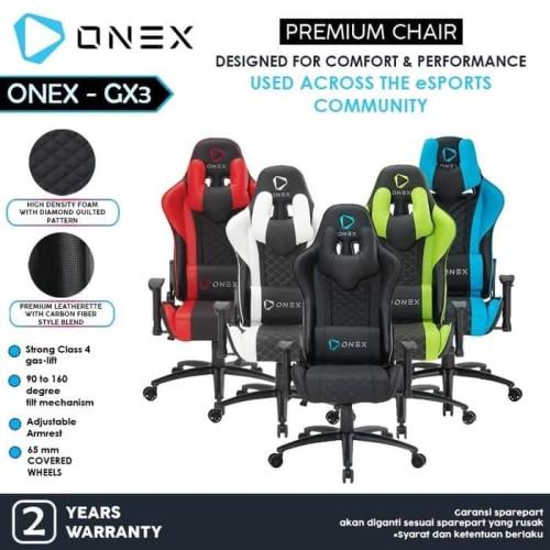 Foto Produk Kursi Gaming Murah Terbaru ONEX GX3 Premium Quality Gaming Chair - Hijau dari manekistore