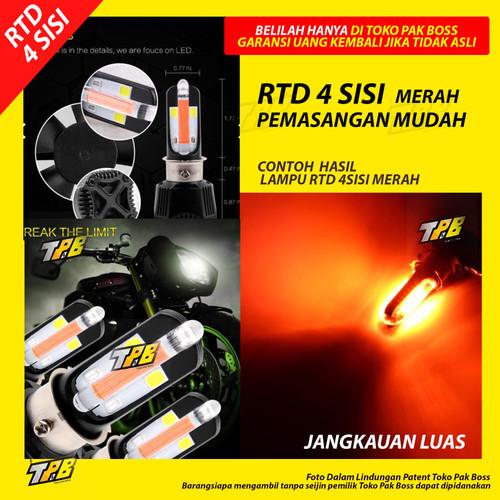 Foto Produk Lampu LED Motor RTD depan bohlam Bukan philips putih kuning merah beat - 4 SISI MERAH dari TOKO PAK BOSS