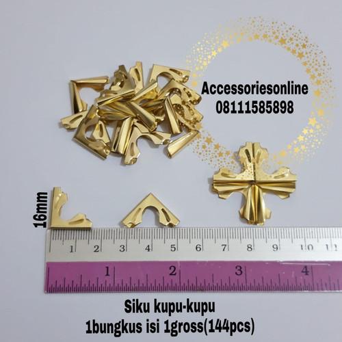 Foto Produk Siku Buku Yasin (sudut buku) / Siku Agenda / Siku kupu-kupu Gold 144pc dari accessoriesonline