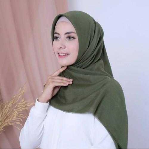 Foto Produk Promo Hijab Jilbab Saudia Polos Rawis Exclusive Termurah Part 2 - Hijau Army dari Best Shop Ind