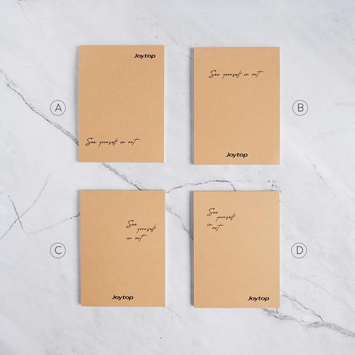 Foto Produk See Yourself In Art Plain Notepad A6 / Buku Catatan A6 / Notes A6 - VARIAN A dari Pinkabulous