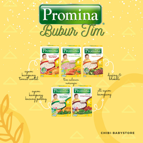 Foto Produk Promina BTI 8+ Box 100gram PRO Bubur Bayi 8 bulan Baby Cereal Porridge - Ayam Kacang dari Chibii Baby Store