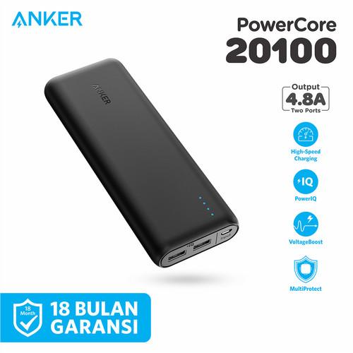 Foto Produk PowerBank Anker PowerCore 20100 mAh Black - A1271 - Hitam dari Anker Indonesia