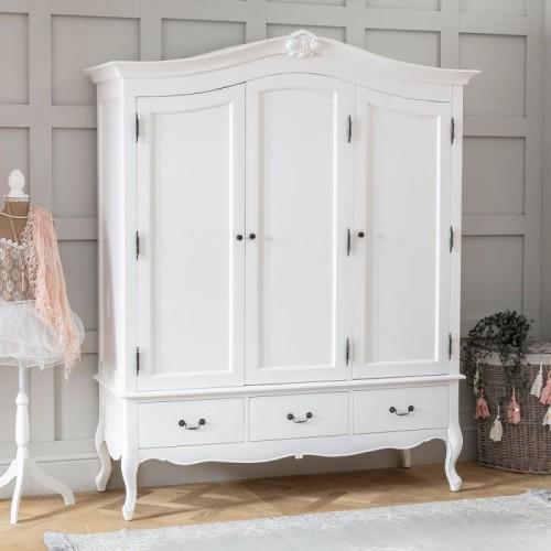 Jual Lemari Pakaian 3 Pintu Shabby Chic Furniture Jepara Batealit Rasya Homeset Tokopedia