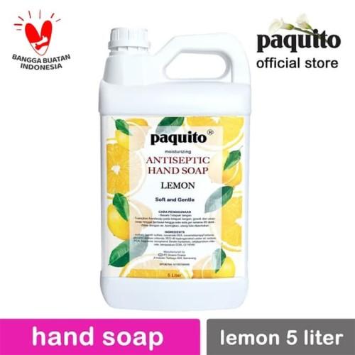 Foto Produk Sabun Cuci Tangan ANTISEPTIC Hand Soap Paquito Lemon 5 Liter dari Paquito Official Store