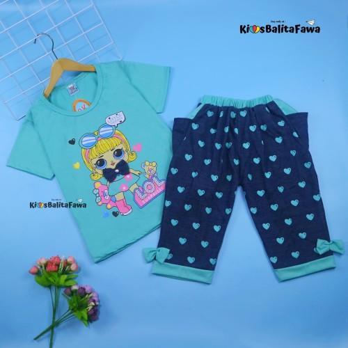 Foto Produk Setelan Lisa uk 1-8 Tahun / Baju Harian Anak Perempuan Kaos Cewek - 1-3 tahun, Merah dari Kios Balita Fawa