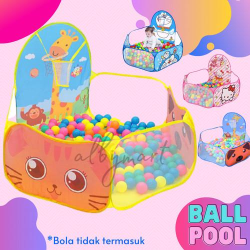 Foto Produk Kolam Mandi Bola - Safari Pool with Hoop / Keranjang Mandi Bola & Ring - pink giraffe dari cabokimurah