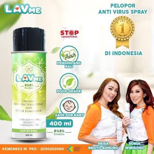 Foto Produk Lavme Disinfectant Spray Anti Virus Organic - 400 ML Kirakira dari LAVME Official Store