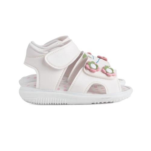 Foto Produk sandal anak perempuan unik bunyi cit PUTIH aksesoris bunga - Putih, 25 dari Syalu Shoes