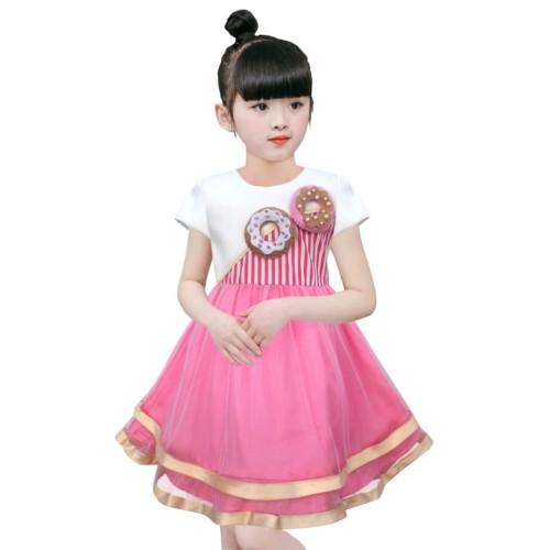 Foto Produk Two Mix Dress Anak Fashion / Pakaian Anak / Baju Anak Perempuan 4050 - Pink, 1 dari Two Mix