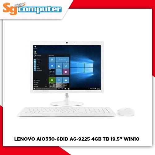 "Foto Produk LENOVO AIO 330-20AST 6DID A6-9225 4GB 1TB DVD 19.5"" WIN10 White dari SG Computer Jogja"