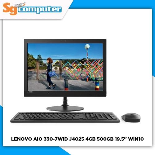 Foto Produk LENOVO ALL IN One AIO 20IGM 330-7WID J4025 4GB 500GB 19.5 WIN10 BLACK dari SG Computer Jogja