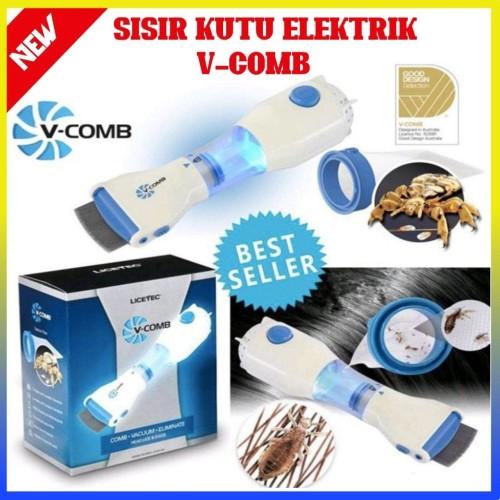 Foto Produk Sisir Kutu Elektrik Vacum V-COMB / Sisir Penghilang Kutu - 100222 dari Home - Living Stuff