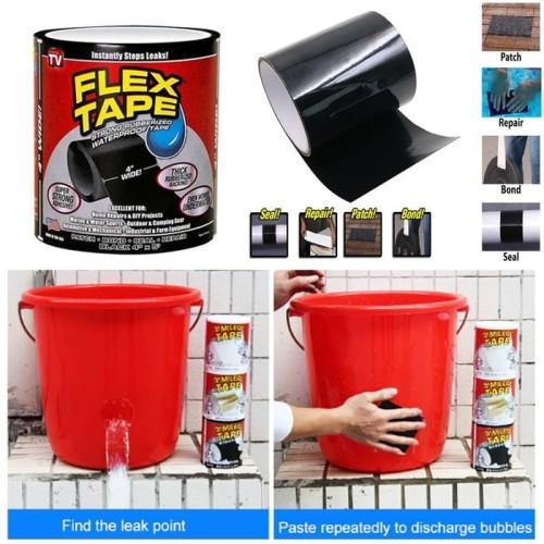 "Foto Produk FLEX TAPE 4"" X 1,5M ISOLASI AJAIB LAKBAN SUPER KUAT WATERPROOF dari Modifikasi Market"