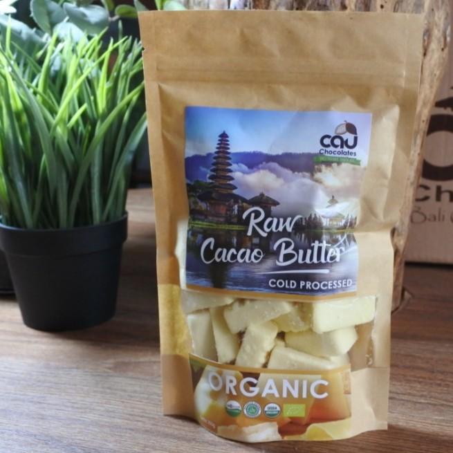 Foto Produk Organic Raw Cacao Butter / Cocoa Butter Cold Processed Cau Chocolates dari Kantin Organik
