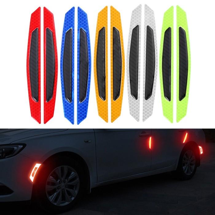 Foto Produk Stiker Reflektor isi 4pcs Pintu Mobil / Stiker Strip Mobil Bercahaya dari AnerStore