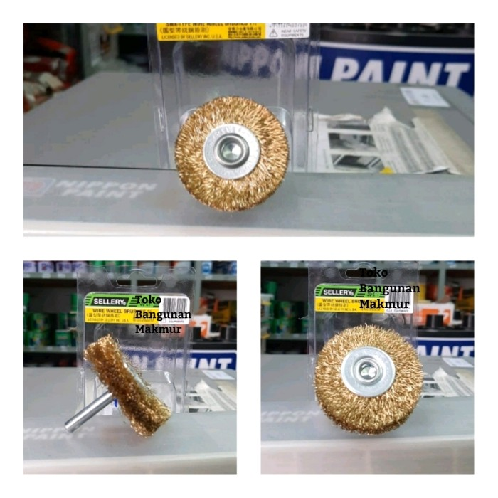 """Foto Produk Wire Brush Sellery 30-210 Sikat Gerinda 1.1/2"""" dari toko Bangunan Makmur"""