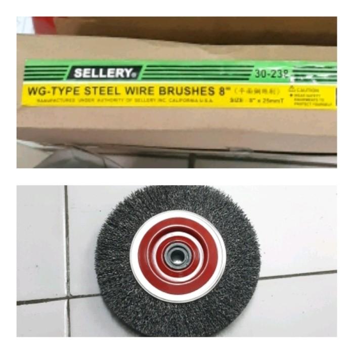 """Foto Produk Wire Steel Brush Sellery 30-238 Sikat Kawat Baja 8"""" dari toko Bangunan Makmur"""