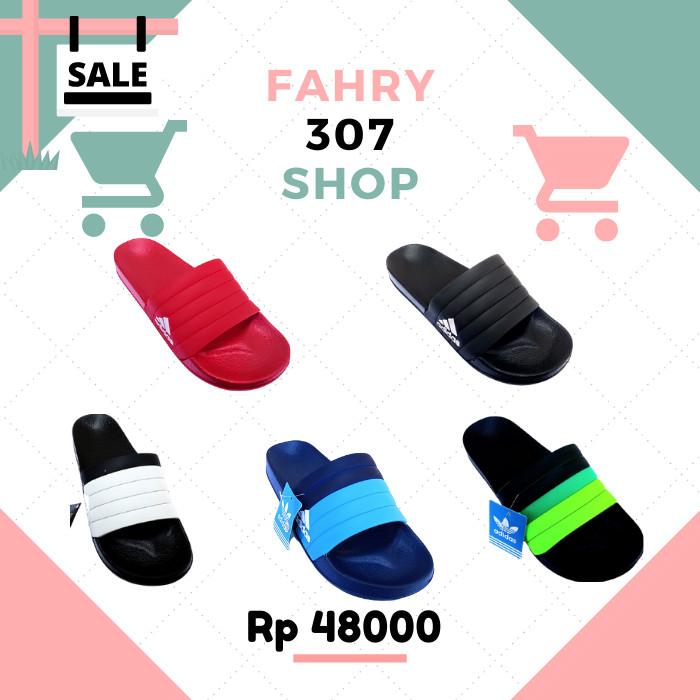 Foto Produk Sandal Slide Adidas Pria Sandal Slop Karet Pria - Abu-abu, 44 dari Fahry 307shop