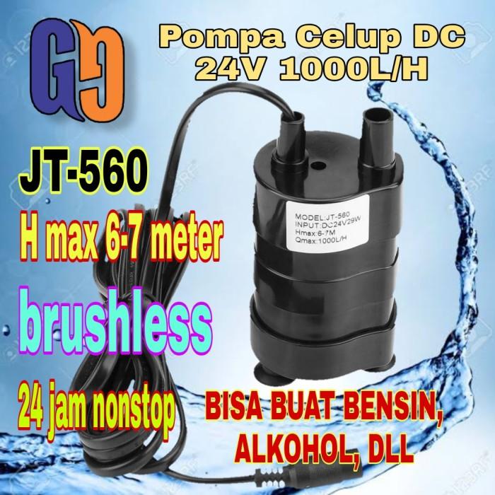 Foto Produk Pompa Air Celup DC 24V JT560 Pompa Bensin Brushless 1000LH 7M dari GG outlet