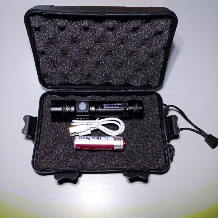 Foto Produk SENTER FLASHLIGHT 1301 ledXM-L T6 USB port+bat.18650 + Hard Box dari DO OFFICIAL STORE