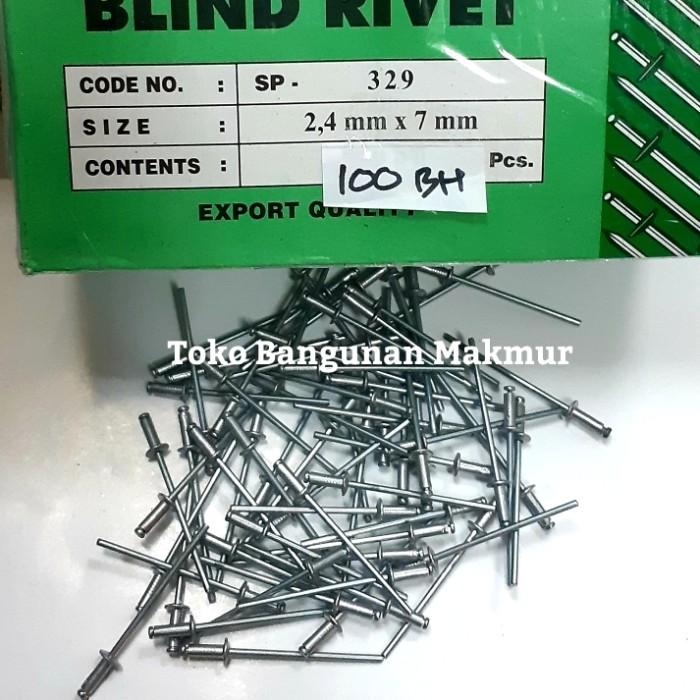 Foto Produk Paku Rivet 329 2.4x7mm Rifet Ripet per 100 pcs dari toko Bangunan Makmur