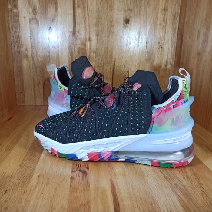 Jual Sepatu Basket Nike Lebron 18 James Gang Black Multicolor Kota Medan Ganda Sport Tokopedia