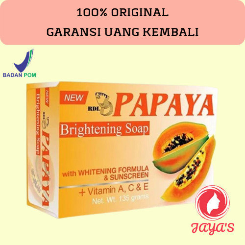 Jual New Rdl Papaya Brightening Soap 135g Sabun Pepaya Asli By Philippine Kota Surabaya Jaya S Tokopedia