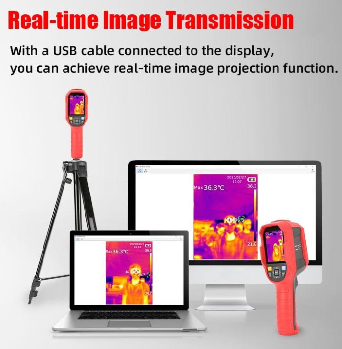 Foto Produk Thermal Camera UTi165K Imager UNI-T Medical Body UNIT Infrared Thermo dari HRDIK