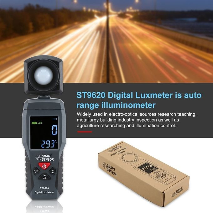 Foto Produk Lux Meter Smart Sensor ST9620 Light Tester ST-9620 luminometer ST 9620 dari HRDIK