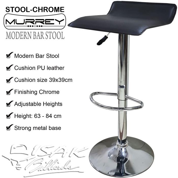 Foto Produk Cafe Bar Stool Chrome - Kursi Tinggi Billiard Bangku Kafe Table Resto dari ISAK Billiard Sport Co.