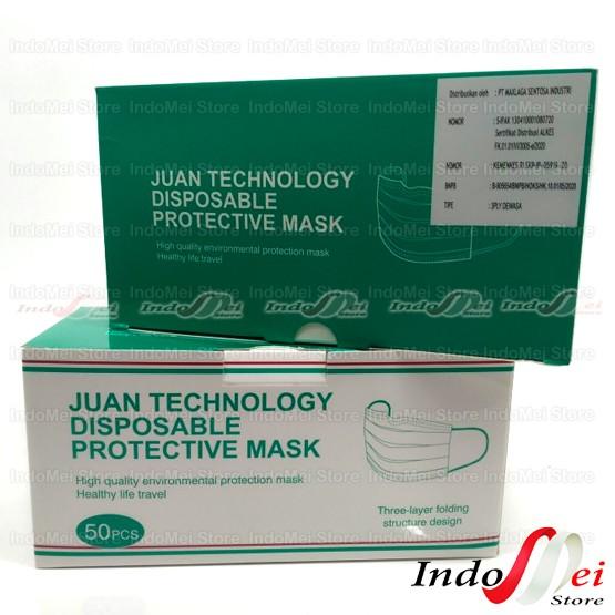 Foto Produk Masker Anak 3ply Juan Technology Medis Disposable Box 50pcs dari Indomei Store