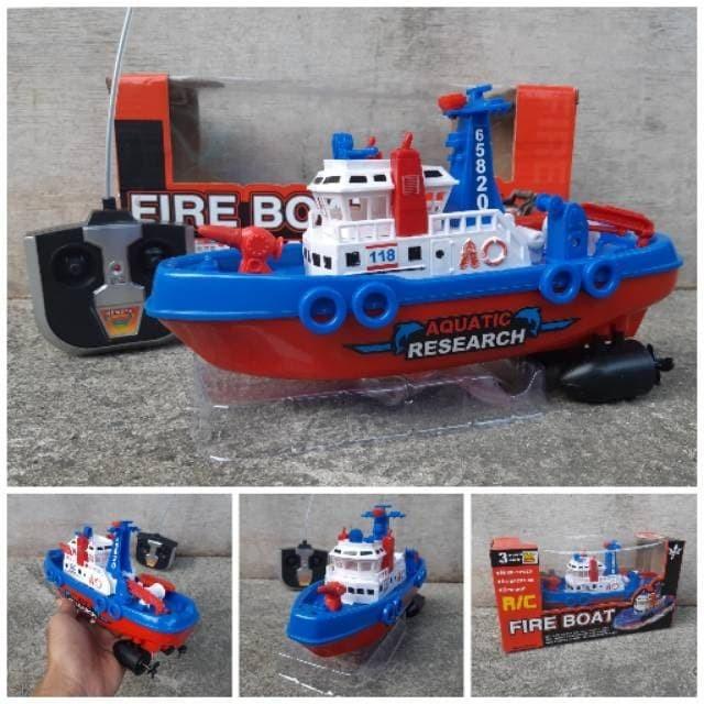 Foto Produk RC Fire Boat Kapal Pemadam RC REMOTE No.26-3 dari ANEKA MAINAN ONLINE