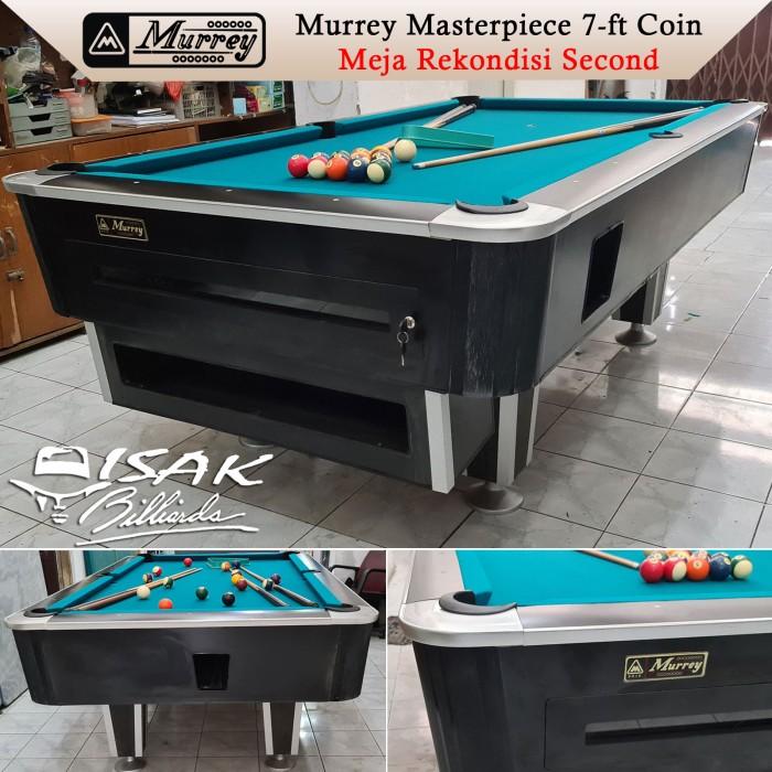 Foto Produk Murrey 7-ft Coin Second Rekondisi - Black Meja Bekas Billiard Table dari ISAK Billiard Sport Co.